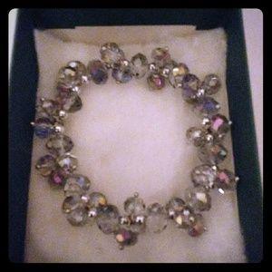 Jewelry - Multicolored Silver Metallic Crystal Bracelet